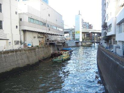 神田川・左手に日本橋川&小石川橋
