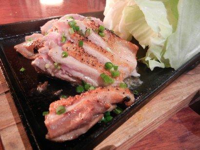 会津地鶏の鉄板焼き ねり七味添え