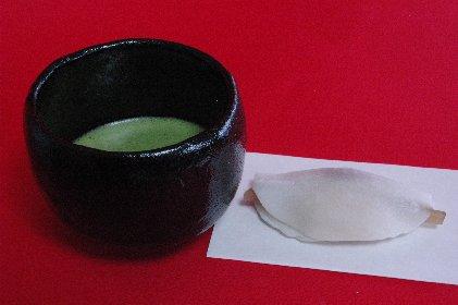抹茶と花びら餅