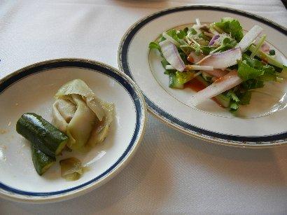 サラダ&香の物