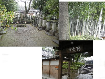 吉良家の墓・山門・竹薮