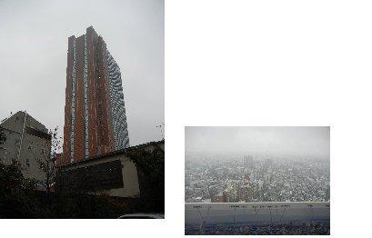 キャロットタワーとタワーからの眺め