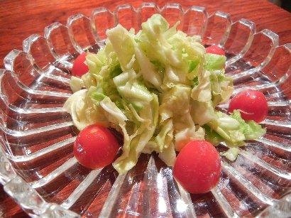 春キャベツとミニトマトの塩麹漬け