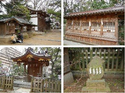 水天宮、八幡、船玉神社ほか