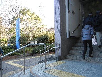 南砂町駅・水準標と入り口階段の高さ