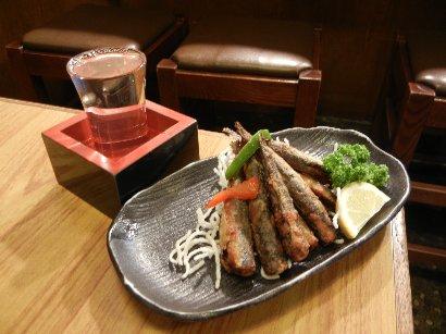 唐揚げと日本酒