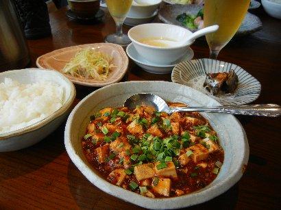 サービスランチ 麻婆豆腐