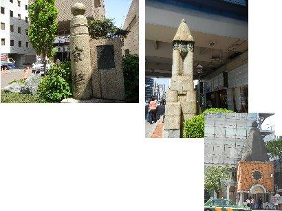 京橋親柱と京橋交番