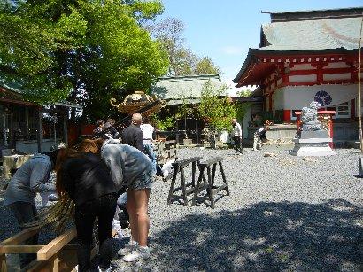 鹿島神社・神輿準備