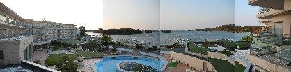 窓から見た松島海岸