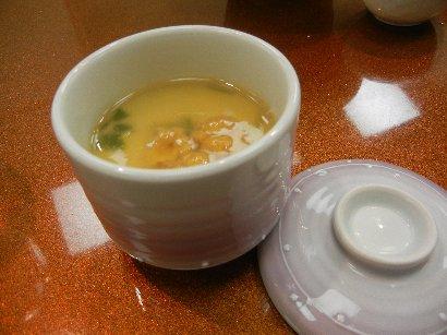 温物・雲丹茶碗蒸し