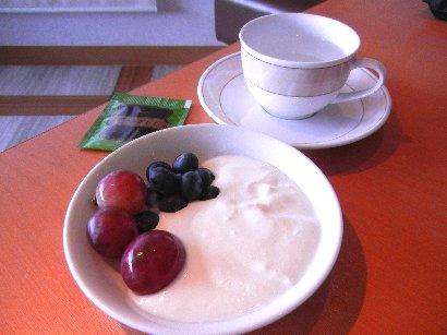 朝食紅茶とデザート