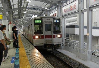 浅草行き電車