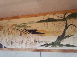 日本橋浮世絵を描いた壁画
