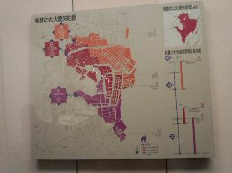 明暦大火の地図