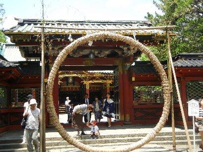 茅の輪と唐門