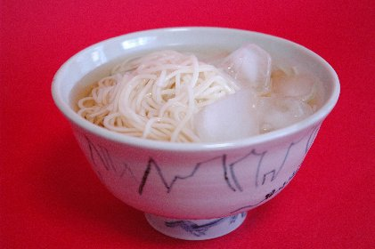 白石温麺in呉須山水茶碗