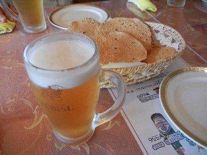 ビールとパパード(せんべい)