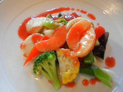 海鮮と鮮野菜のすもも香り炒め