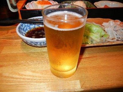 乾杯の瓶ビール