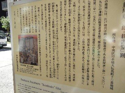 蔦屋重三郎「耕書堂」跡