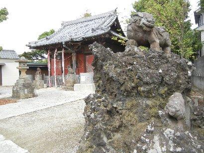 獅子山と拝殿