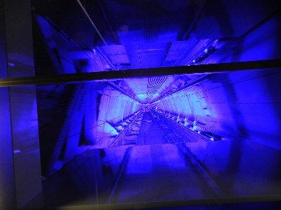 下りエレベーター450→345の天井方面