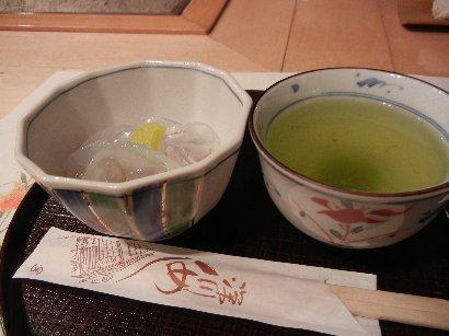 甘味とお茶