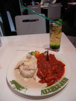 飲み物と食事