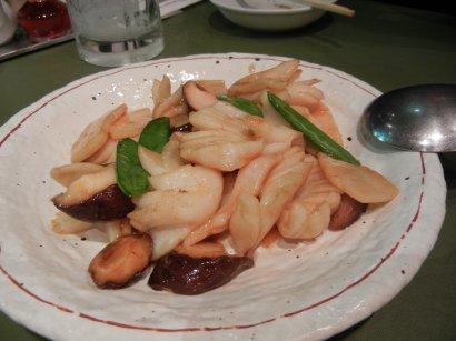 イカの炒め物