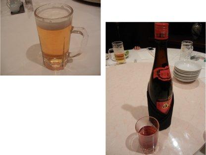 ビールと紹興酒