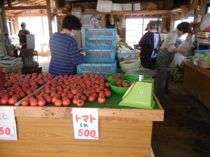 S農園の販売所