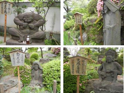東京大仏周りの石像