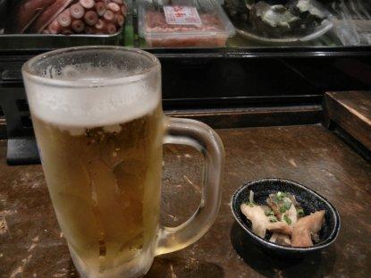 ひとりビールで乾杯