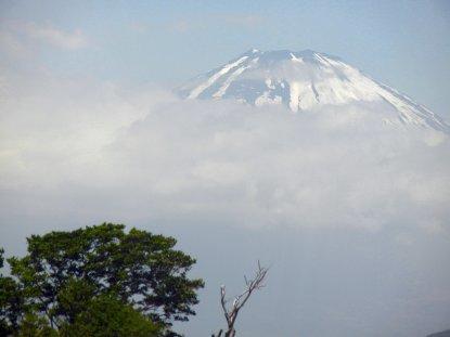 ロープウェイから見た富士山