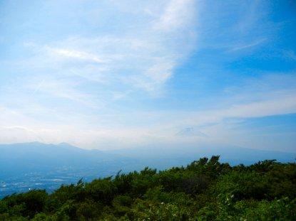 三国峠から見た富士山