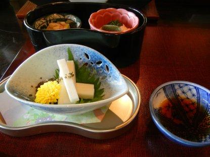 箱根汲み湯葉・一寸豆豆腐・自然薯のお造り
