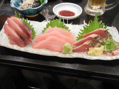 地魚三点盛り