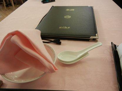 赤坂・四川飯店テーブル