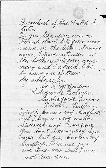 Carta del Fidel a FDR b