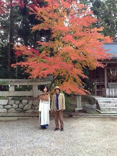 仰木の家 紅葉