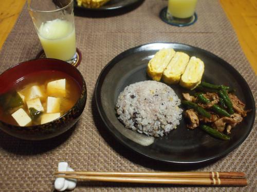 豚肉といんげんの生姜焼きプレート