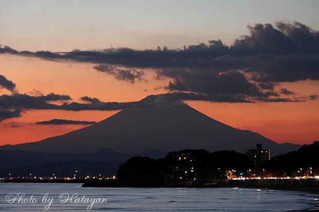 七里ケ浜からの富士山2a