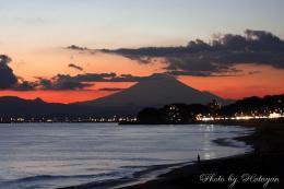 七里ケ浜からの富士山1a