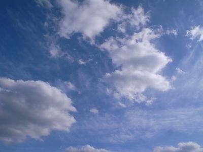 いい空です