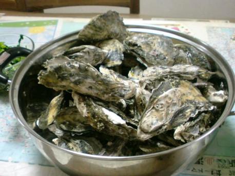 蒸し牡蠣♪