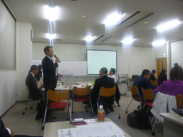 井浦さんがグループ発表です