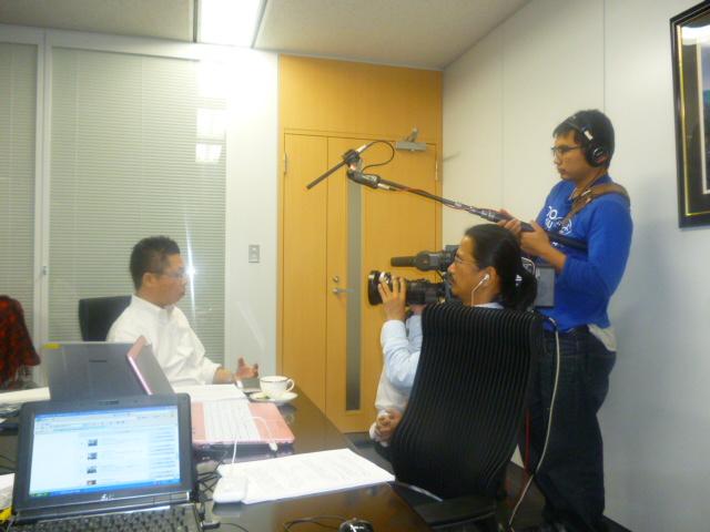 浜野さんもインタビューです