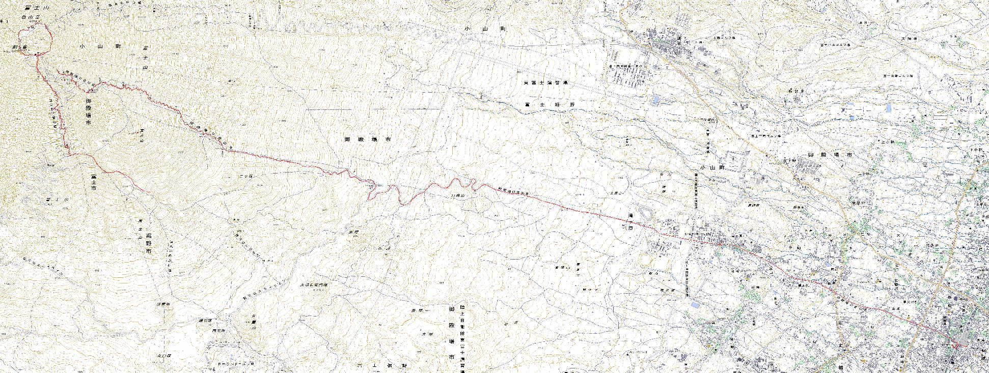 2011年富士登山全行程GPSログ