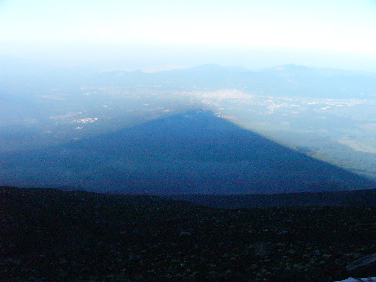 七合五勺から見た影富士